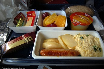 Airline food guessing game